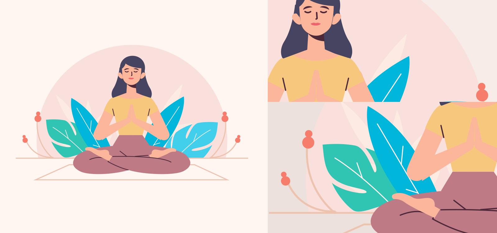 Meditation Illustration on sketchvalley.com/